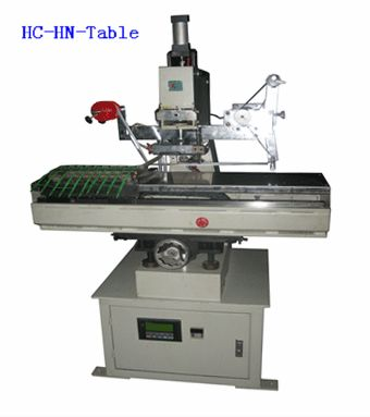 Moving table numerator hot stamp machine